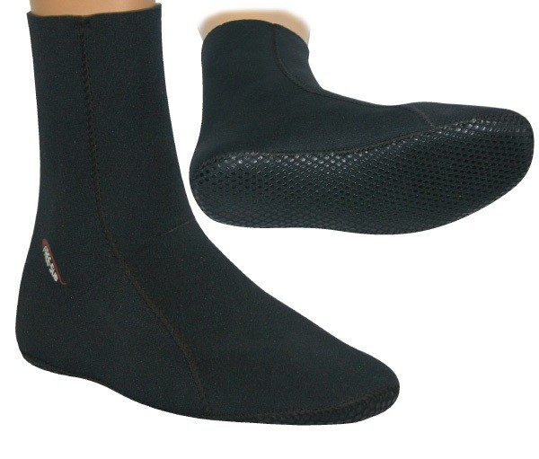 Black Open Cell Socks 3mm