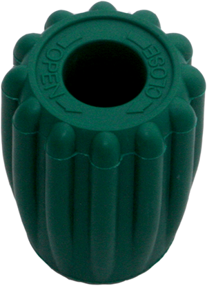 Valve Knob Easy Grip Green DIR