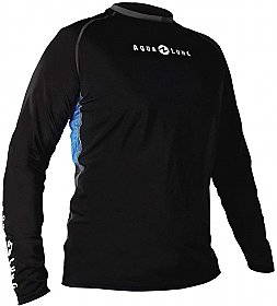Top Uv Men Long Sleeves Loose Fit Black/Blue Aqualung