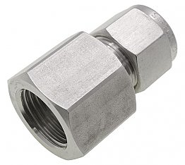 "6mm to 1/4"" BSPP Female Connector"