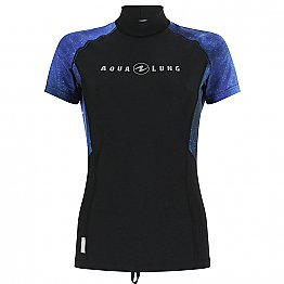 Top Uv Lady Short Sleeves Galactic Blue Aqualung
