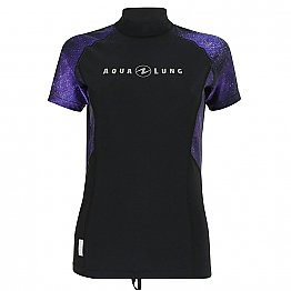 Top Uv Lady Short Sleeves Galactic Purple Aqualung
