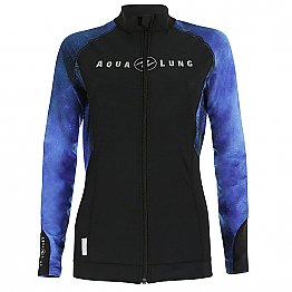 Top Uv Lady Zip Long Sleeves Galactic Blue Aqualung