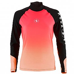 Top Uv Lady Long Sleeves Black/Pink Aqualung