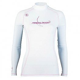 Top Uv Lady Long Sleeves White/Pink Aqualung