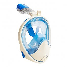 Full Face Snorkelling Mask White/Blue S/M - L/XL