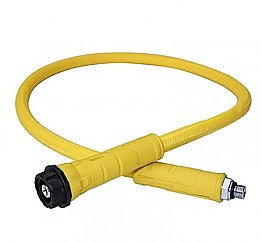 3/8 Mp Hose For Apeks Flight 100cm Yellow