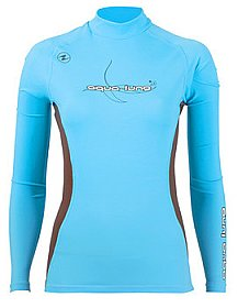 Top Uv Lady Long Sleeves Blue/Brown Aqualung