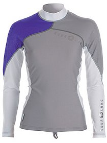 Top Uv Lady Long Sleeves Grey/Purple Aqualung