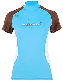 Top Uv Lady Short Sleeves Blue/Brown Aqualung