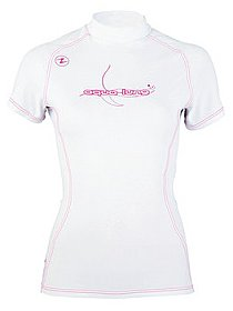 Top Uv Lady Short Sleeves White/Pink Aqualung