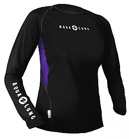 Top Uv Lady Long Sleeves Loose Fit Black/Twilight Aqualung