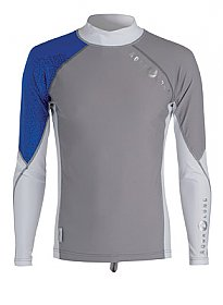 Top Uv Men Long Sleeves Grey/Blue Aqualung