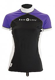 Top Uv Lady Short Sleeves Black/Purple Aqualung