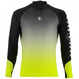 Top Uv Men Long Sleeves Black/Lime Aqualung