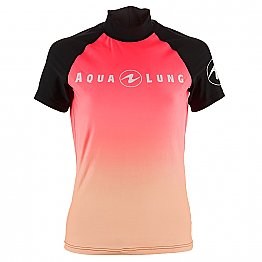 Top Uv Lady Short Sleeves Black/Pink Aqualung