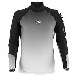 Top Uv Lady Long Sleeves Black/White Aqualung