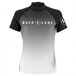 Top Uv Lady Short Sleeves Black/White Aqualung