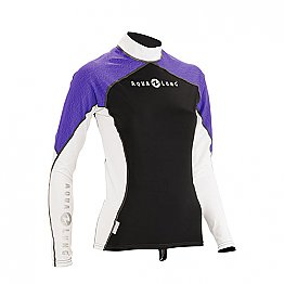 Top Uv Lady Long Sleeves Black/Purple Aqualung