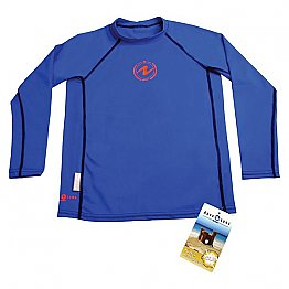 Top Uv Kids Long Sleeves Blue Aqualung