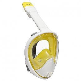 Full Face Snorkelling Mask White/Yellow L/XL