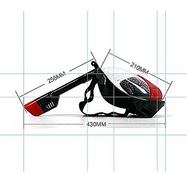 Full Face Snorkelling Mask Black/Red L/XL