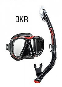 Mask Set Power View + Dry Top Snorkel Tusa